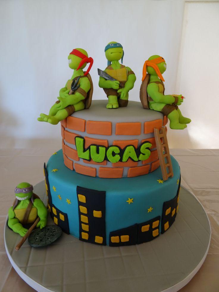 Children's Birthday Cakes - Ninja Turtle / Tartaruga Ninja