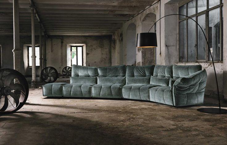 Modular sofa / contemporary / fabric / commercial - EVER - MaxDivani