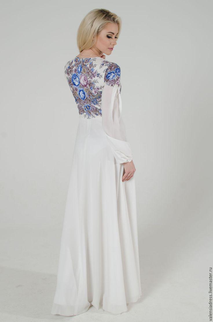 """Купить Платье белое летнее, платье длинное в пол """" Аромат лета"""" - белое платье"""
