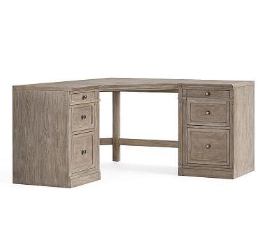 Livingston Small Corner Desk Gray Wash Corner Desk