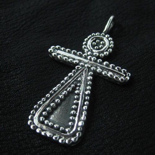 Silver Phoenician Tanit goddess pendant. Reenactment. Pagan. Amulet. SCA.