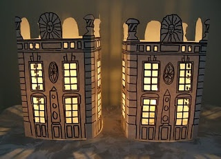 Adorable little votive covers - way to own your own chateaux!