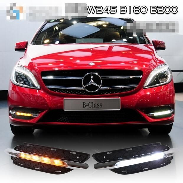 156.75$  Buy here - http://aliou3.worldwells.pw/go.php?t=32780460543 - Hireno Car LED DRL Waterproof ABS 12V Daytime Running Lights for Mercedes-Benz W245 B180 B200 2011-13 Fog lamp 2PCS
