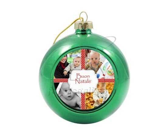 Palla di Natale in vetro colorato 4 stars