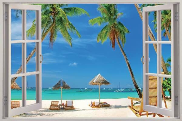 42 best beach wall mural images on pinterest windows on wall decals id=67008
