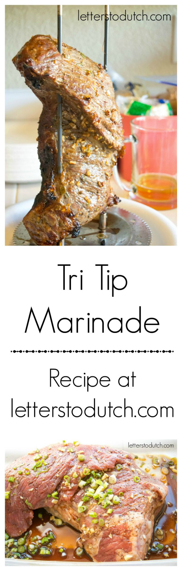 Savory Tri-Tip Marinade #meat #marinade #tritip #recipe #food #savory #yummy #delicious #letterstodutch #bbq #grill #juicy #asian #flavor