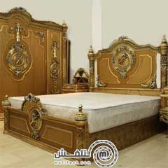 غرفة نوم كلاسيك دهبي عليها شغل اويمة دهبي في فضي ، اوضة النوم عليها خصم 20% من الجهاد فيرنتشر