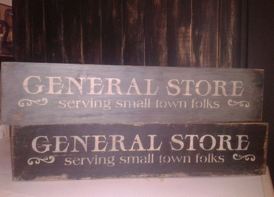 Primitive General Store Distressed Country Wood Sign | eBay: General Store, Primitive General, Country Wood Signs