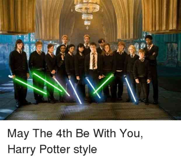 May The 4th Be With You Harry Potter Style Star Wars Day May The Fourth Quote Best Of Memes Harry Potter Style Harry Potter Wiki May The 4th Be With You
