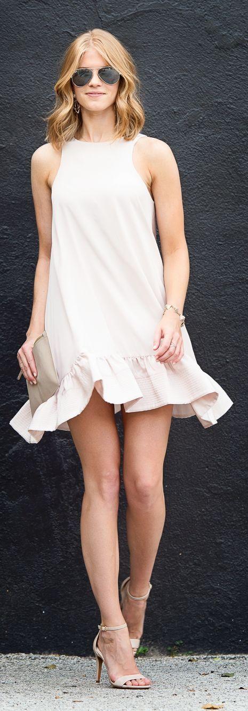 Pale Pink Flounce Little Dress and Ray-Ban Aviator #sunglasses http://www.visiondirect.com.au/designer-sunglasses/Ray-Ban/Ray-Ban-RB3025-Aviator-Large-Metal-Polarized-001/58-4304.html?utm_source=pinterest&utm_medium=social&utm_campaign=PT post
