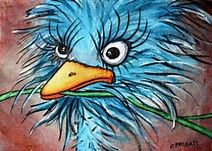 Image result for funky paintings of emu