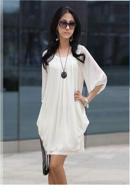 Vestido Blanco Corto