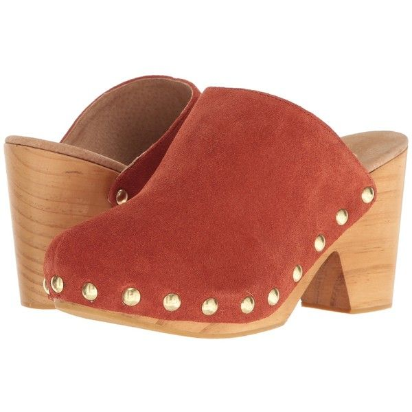 Free People Ring Leader Clog (Terracotta) Women's Clog Shoes (435 BRL) ❤ liked on Polyvore featuring shoes and clogs