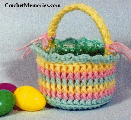 Work up our post stitched Easter Candy Basket worked in multiple colors.  Perfect for holding candy and everyone will love it.  Practice those post stitches and have lots of fun!
