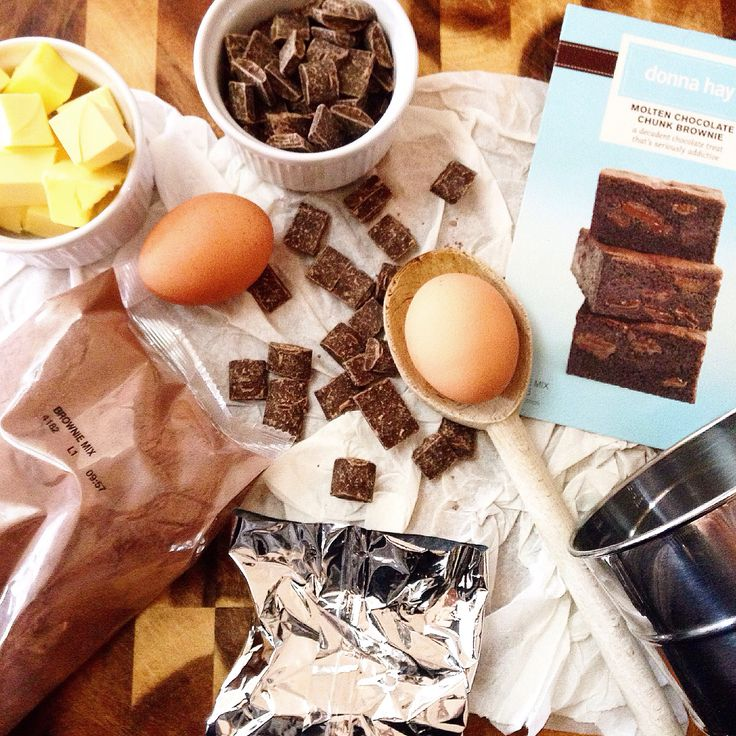 Cooking chocolate brownies.  The KJ Collective Blog  My styling