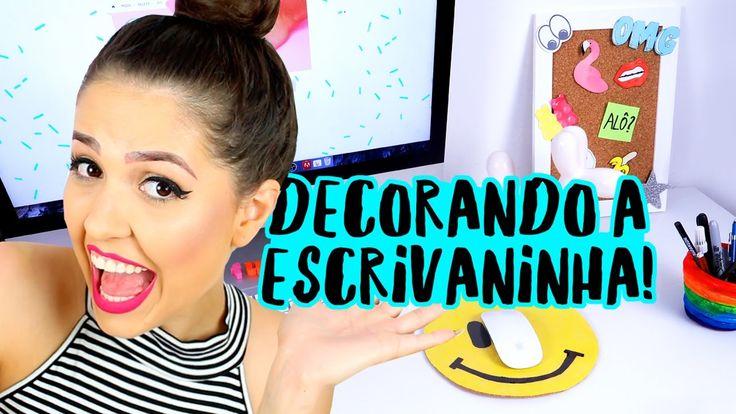 Três ideias de diy (faça você mesmo) divertidos para decorar a escrivaninha! 💖