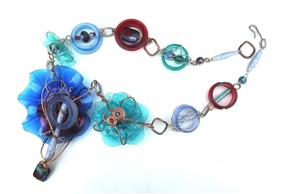 TRASHION NECKLACE ~ ArtfullyReimagined.comJewelry Darlin, Trashion Necklaces