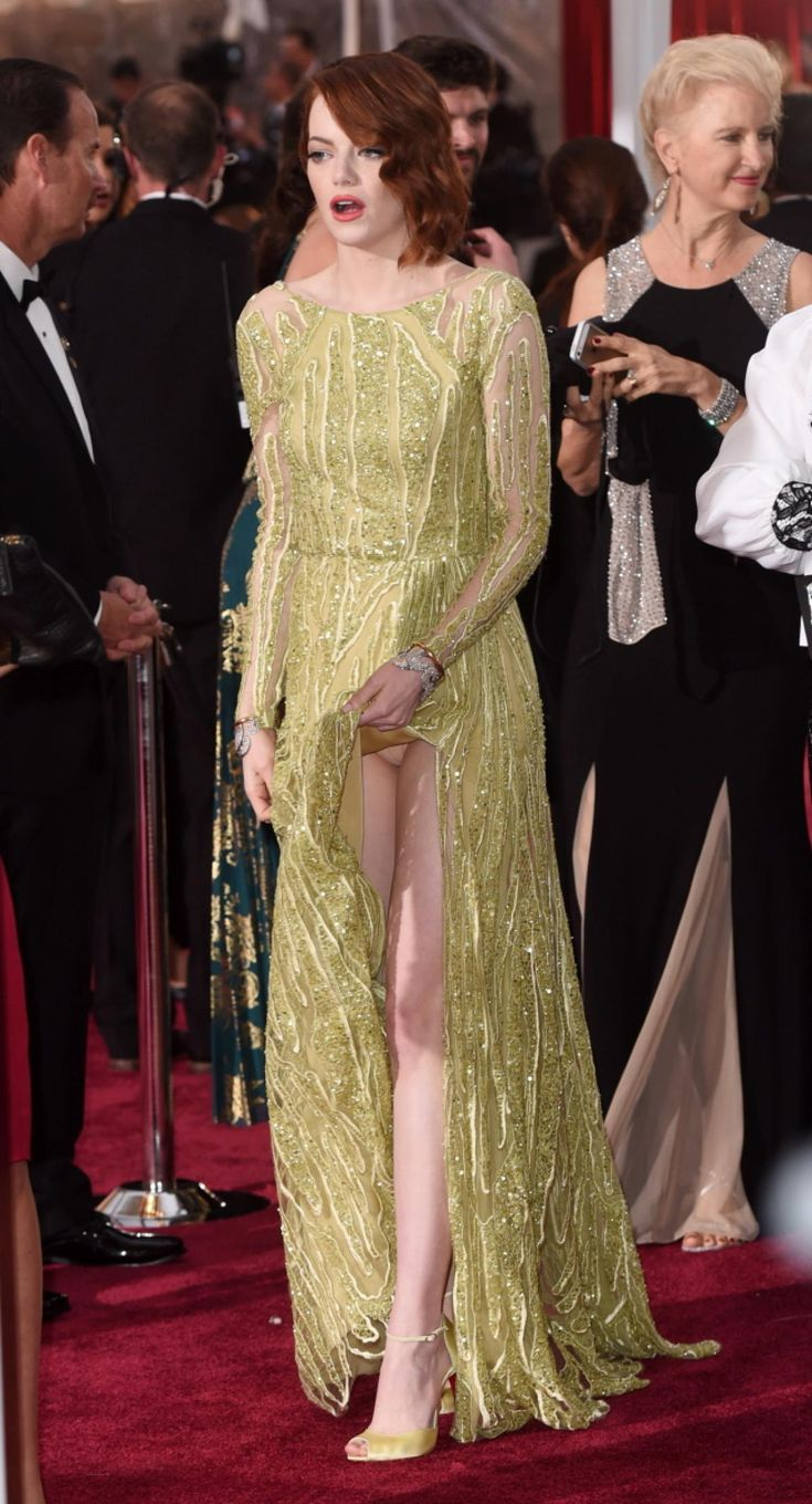 Good thing she didn't decide to go commando! Actress Emma Stone accidentally flashed the cameras while on the…