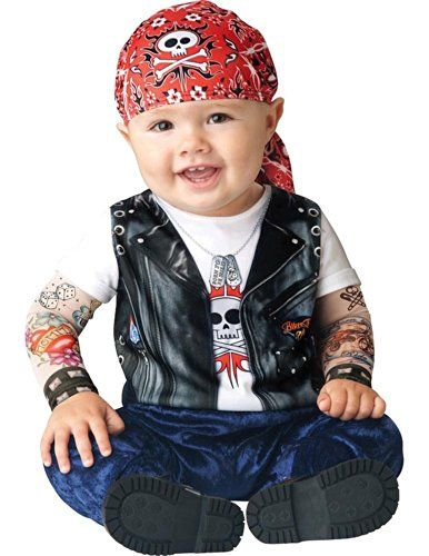 Infant Boy Halloween Costume: Baby Biker Costume (18-24 months with Bracelet for Mom) >>> You can find more details by visiting the image link.