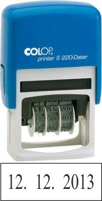 Kvalitní razítko Colop S 120. Datumové razítko, plastové samobarvicí razítko, razítko colop S 120, komplet razítko Colop s 120 na http://razitka-praha.eu, http://vyrobarazitekpraha.cz