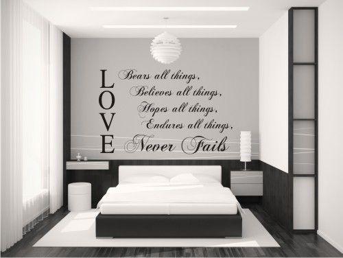 Wall Words in Vinyl for Bedroom  Love :-)