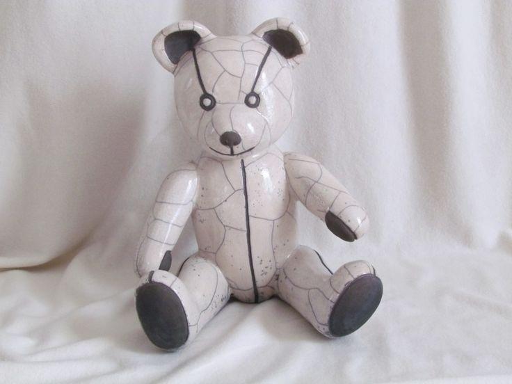 sculpture raku ours nounours  animaux céramique grès Danièle Meyer: