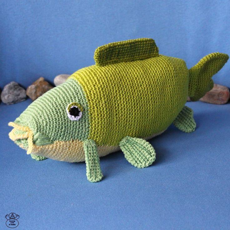 Kapřík Lojzík/The carp Návod na háčkování/Crochet tutorial