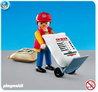 PLAYMOBIL® Hafenarbeiter mit Sackkarre
