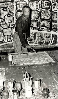Ian Fairweather in his studio.