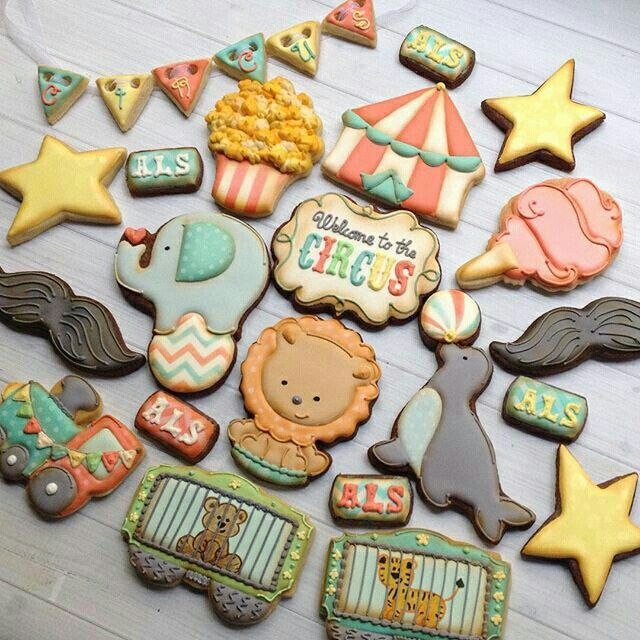 Circus cookies by Madrimahtani                                                                                                                                                                                 More