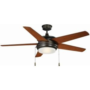 Palisade 52 in. LED Indoor English Bronze Ceiling Fan