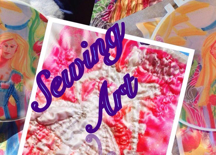 Sewing into Art - Art Challenge #inspirebykim #art #sheffieldart