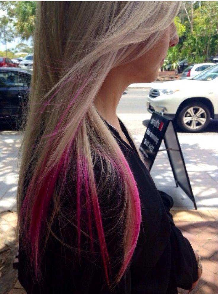 Fun pink dip dye by stylist Cameron @ Smyths inc. #hair #pinkhair #dipdye #hairdresser