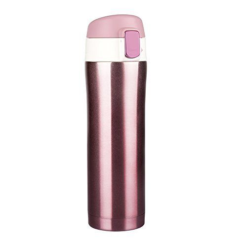 MAVIE Mug isotherme de voyage, 450ml Bouteille isotherme d'acier inoxydable hermétique et Compact Camping, Tasse thermique à thé à café…