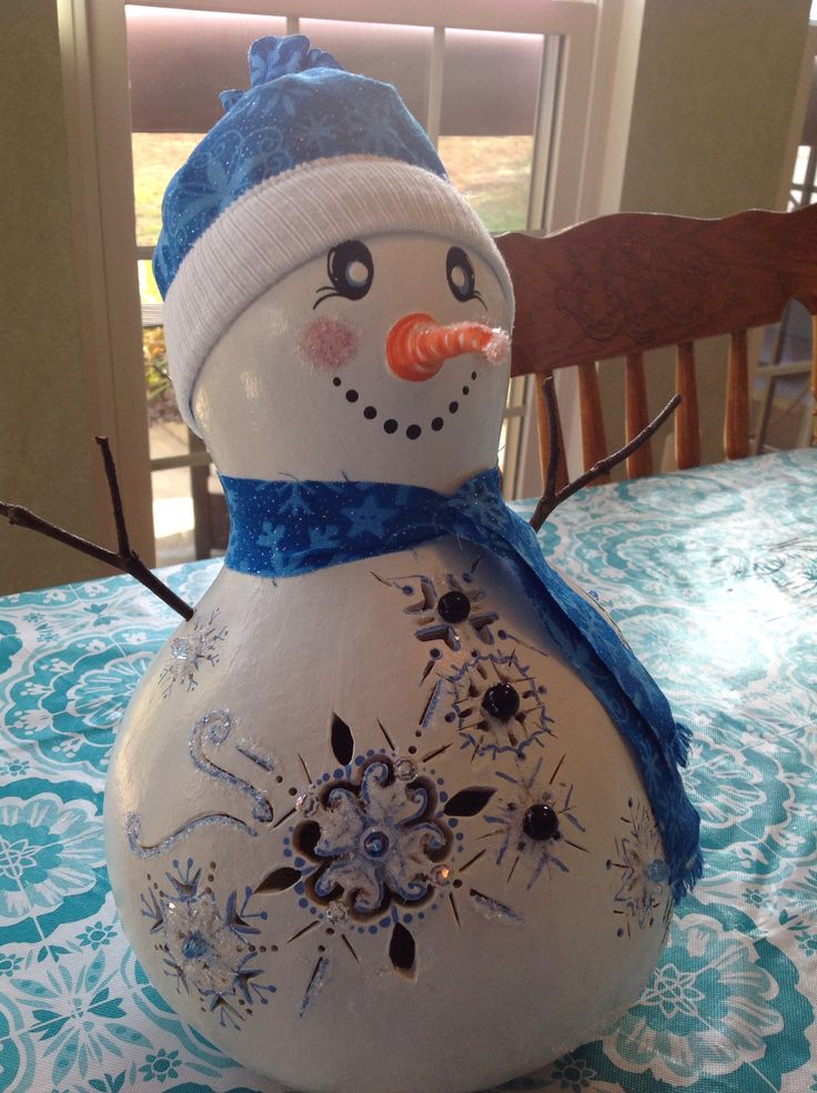 466 Best Painted Gourds Snowman Images On Pinterest