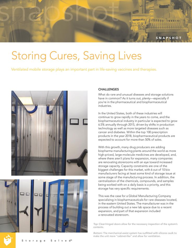 Free Download: Pharmaceutical Manufacturer Integrates HVAC into their Compact Mobile Storage System | Spacesaver.com