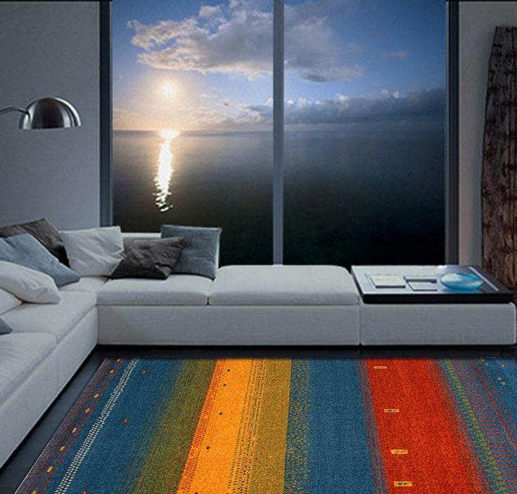 Moderner Teppich BRUMA in Blau. Ihr Webshop für elegante Teppiche.