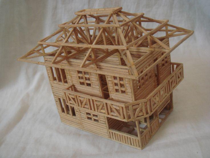 House made out of matchsticks | Match & Toothpicks ...