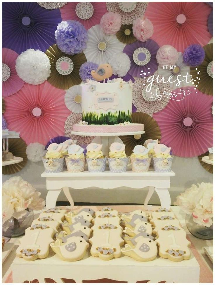 If you're planning a baptism then you won't want to miss this beautiful shabby chic celebration. See more party ideas and share yours at CatchMyParty.com