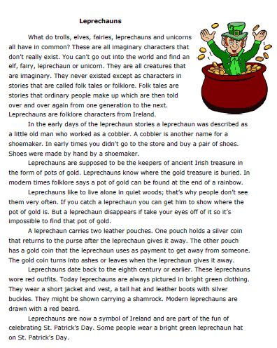 Story about Leprechauns - -  Pinned by @PediaStaff – Please Visit http://ht.ly/63sNt for all our pediatric therapy pins