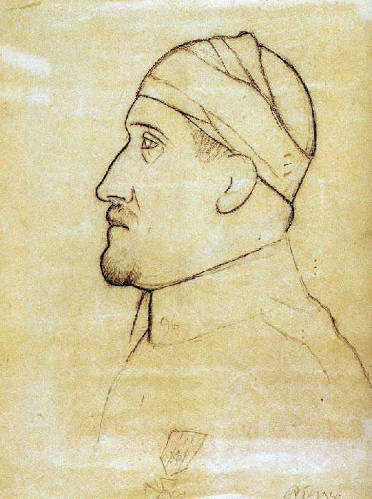 """Pablo Picasso - (1881-1973)  """" Portrait d'Apollinaire blessé."""""""