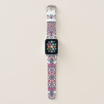 #Mandala Tiga Original Purple White Apple Watch Band - #flower gifts floral flowers diy