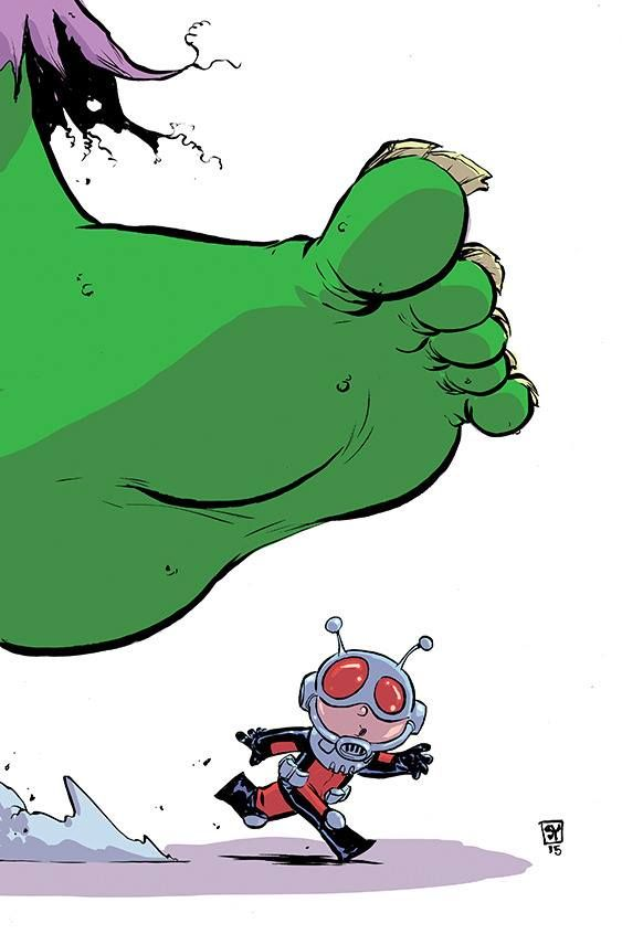 Ant-Man #1 variant cover by Skottie Young *