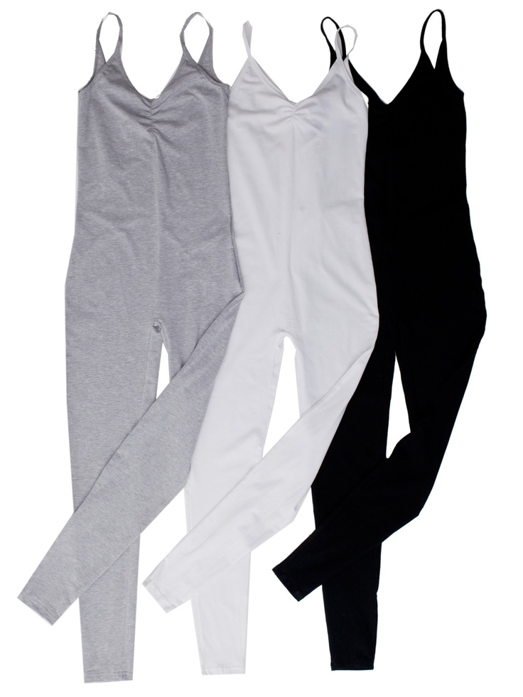 American Apparel - (3-Pack) Cotton Spandex Jersey Unitard GET IN BLACK AND GREY ..(need dark grey not light grey) .. HAVE THE black sheer shell to go with the black .. <3