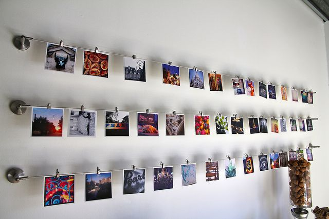Those IKEA curtain wires could transform any wall into a real Instagram... Are you looking for small photo prints to add to your gallery wall? Visit bx3foto.etsy.com