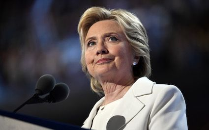 Mandatory Credit: Photo by ddp USA/REX/Shutterstock (5807042a) Democratic Presidential nominee Hillary Clinton speaks on stage during the 2016 Democratic National Convention at Wells Fargo Center Democratic National Convention, Philadelphia, USA - 28 Jul 2016