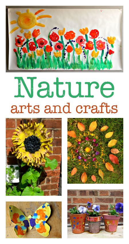 Nature crafts, nature art projects for kids, garden crafts, nature crafts