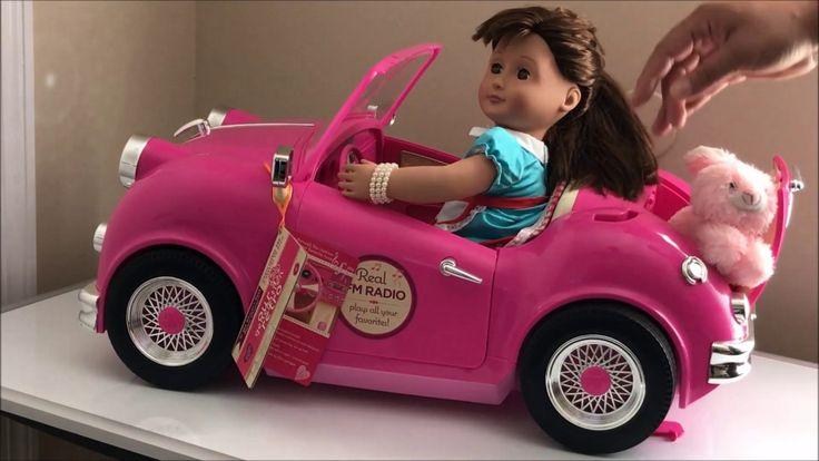 Carro vintage para a boneca Our generation.