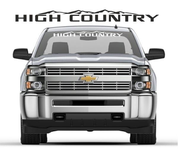 Unique Chevy High Country Windshield Banner Decal Sticker Check
