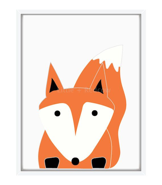Oh Mr Red Fox - poster on Etsy, $39.00 AUD